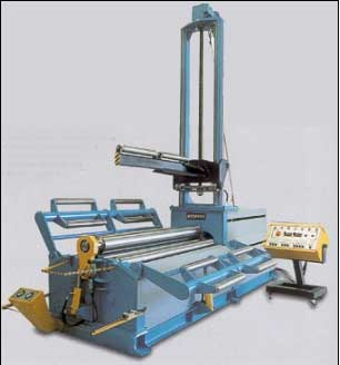 Model AHS 4 Roll Bending Machine with side and center supports | akyapak roll bending machines