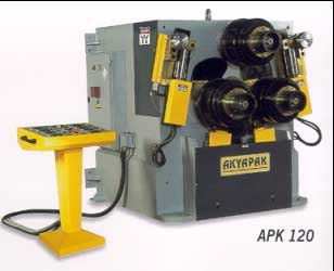 Akyapak Model APK 120 Profile Roll Bending Machine | akyapak profile roll bending machine