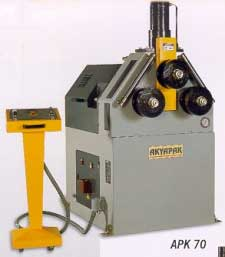 Akyapak model asm asymmetrical 3 roll bending machine | hydraulic bending machines