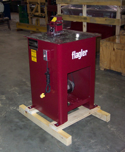 Flagler 20 gauge button punch flanger machine